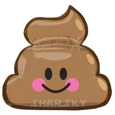 "Шар ""Эмодзи какашка"", 63 см"