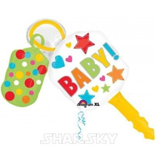 """Воздушные шары. Доставка в Москве: Шар """"Ключик Baby"""", 96 см Цены на https://sharsky.msk.ru/"""