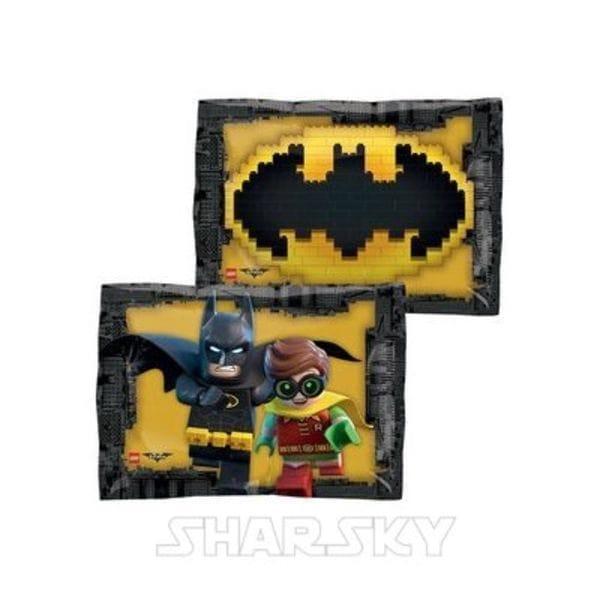 """Воздушные шары. Доставка в Москве: Шар """"Лего Бэтмен - Эмблема"""", 41 см Цены на https://sharsky.msk.ru/"""