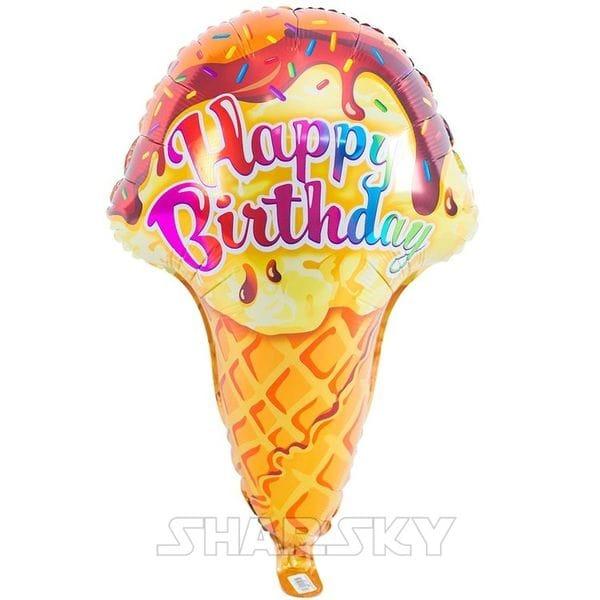 """Воздушные шары. Доставка в Москве: Шар """"Мороженое"""" Happy Birthday, 69 см Цены на https://sharsky.msk.ru/"""
