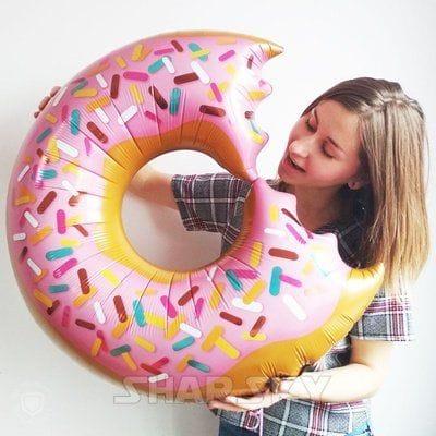 """Шар """"Надкусанный пончик"""", 85 см"""