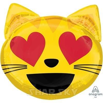 """Шар """"Эмодзи влюбленный кот"""", 55 см"""