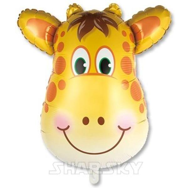 """Воздушные шары. Доставка в Москве: Шар """"Голова жирафа"""", 86 см Цены на https://sharsky.msk.ru/"""