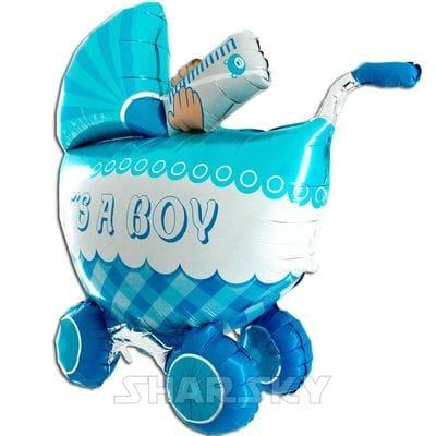 "Шар ""Коляска для мальчика"", 107 см"