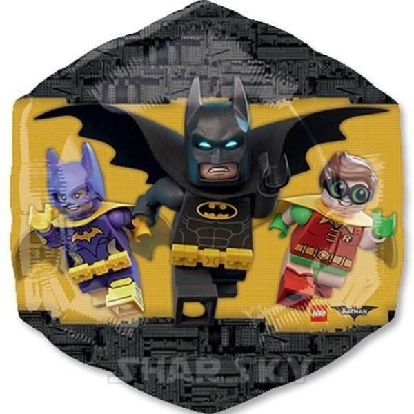 """Воздушные шары. Доставка в Москве: Шар """"Лего Бэтмен"""", 58 см Цены на https://sharsky.msk.ru/"""