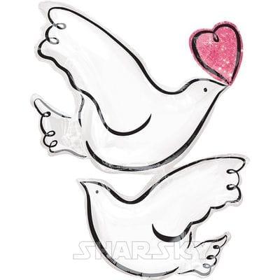 """Шар """"Свадебные голуби"""", 81 см"""
