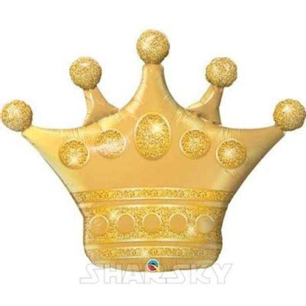 """Воздушные шары. Доставка в Москве: Шар """"Золотая корона"""", 102 см Цены на https://sharsky.msk.ru/"""
