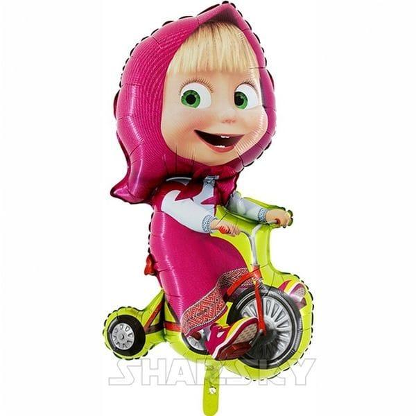 """Воздушные шары. Доставка в Москве: Шар """"Маша на велосипеде"""", 99 см Цены на https://sharsky.msk.ru/"""