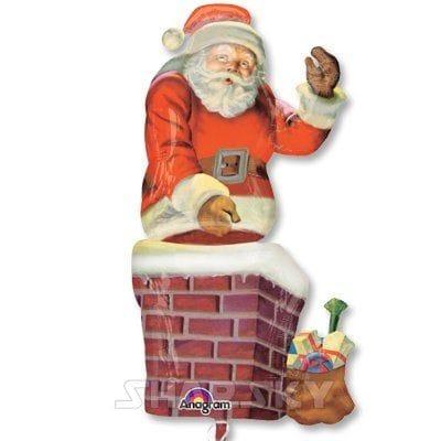 """Шар """"Санта в трубе"""", 81 см"""