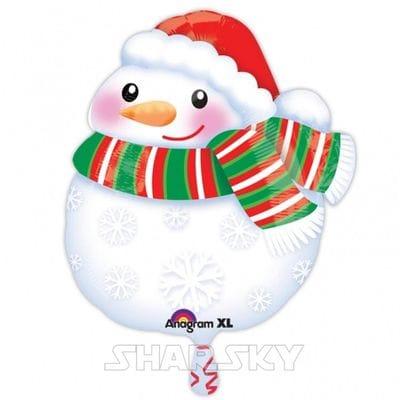 """Шар """"Снеговик в шарфе"""", 53 см"""