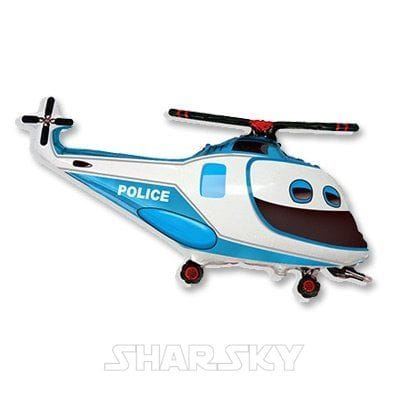 """Шар """"Полицейский вертолет"""", 96 см"""