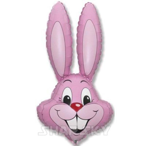 """Воздушные шары. Доставка в Москве: Шар """"Розовый кролик"""", 90 см Цены на https://sharsky.msk.ru/"""