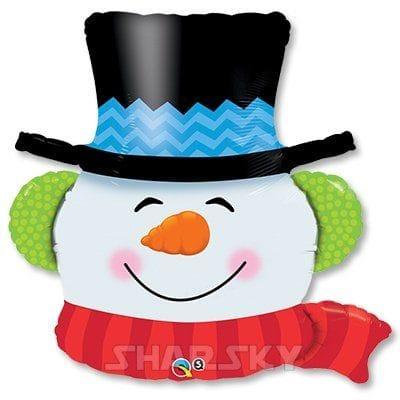 """Шар """"Снеговик в шляпе"""", 90 см"""