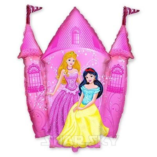 """Воздушные шары. Доставка в Москве: Шар """"Принцессы в розовом замке"""", 87 см Цены на https://sharsky.msk.ru/"""