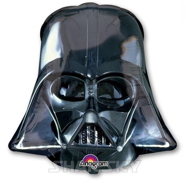 """Воздушные шары. Доставка в Москве: Шар """"Дарт Вейдер - шлем"""", 63 см Цены на https://sharsky.msk.ru/"""