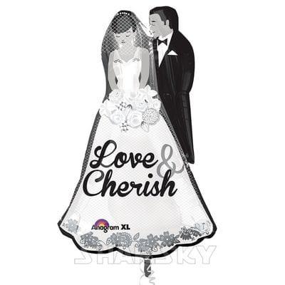 """Шар """"Жених и невеста"""", 63 см"""