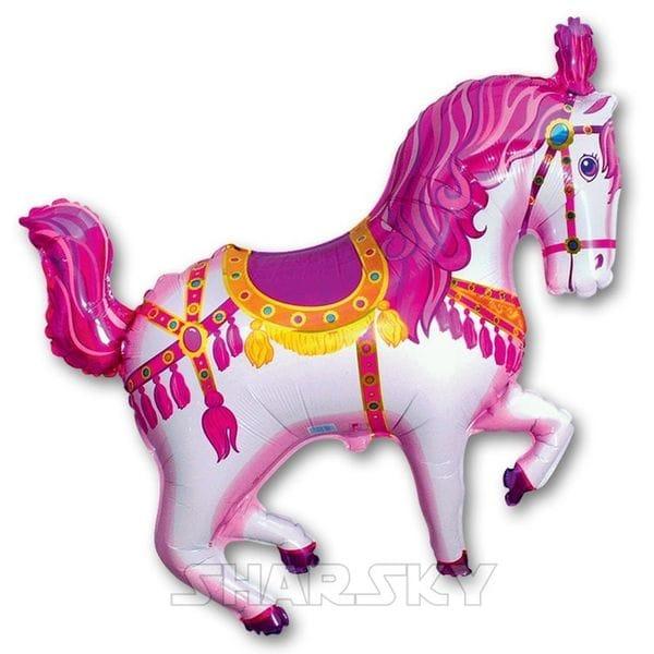 """Воздушные шары. Доставка в Москве: Шар """"Цирковая лошадь"""", 80 см Цены на https://sharsky.msk.ru/"""