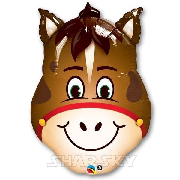 """Воздушные шары. Доставка в Москве: Шар """"Голова лошади"""", 80 см Цены на https://sharsky.msk.ru/"""
