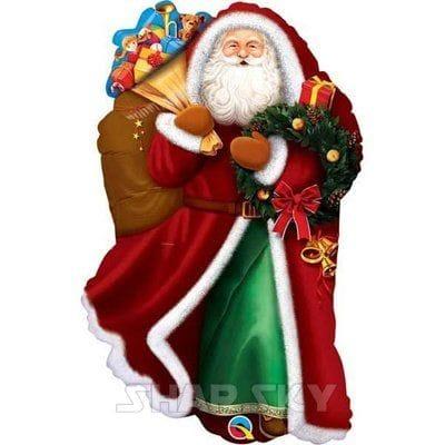 """Шар """"Дед мороз с подарками"""", 80 см"""