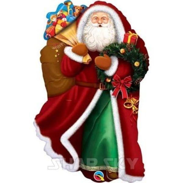 """Воздушные шары. Доставка в Москве: Шар """"Дед мороз с подарками"""", 80 см Цены на https://sharsky.msk.ru/"""