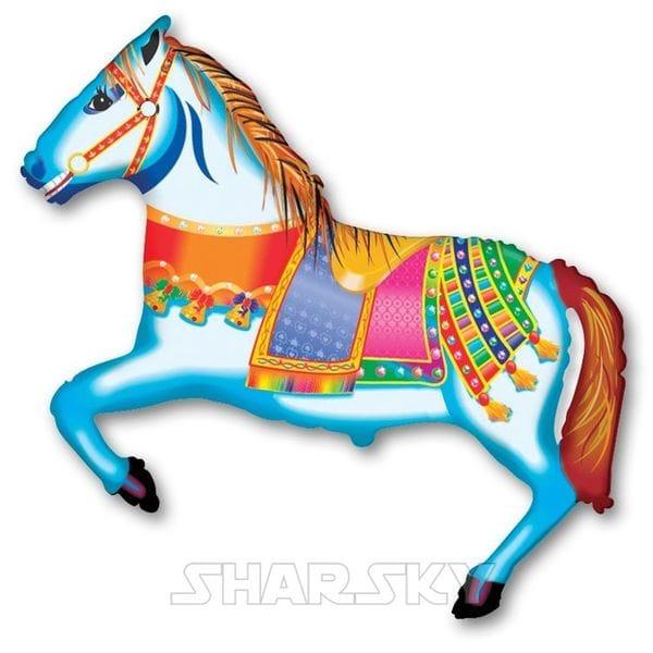 """Воздушные шары. Доставка в Москве: Шар """"Лошадь в попоне"""", 107 см Цены на https://sharsky.msk.ru/"""