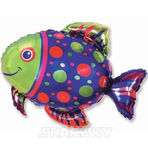 "Воздушные шары. Доставка в Москве: Шар ""Пятнистая рыба"", 85 см Цены на https://sharsky.msk.ru/"