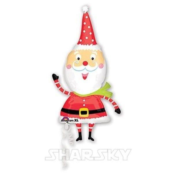 """Воздушные шары. Доставка в Москве: Шар """"Забавный Санта"""", 109 см Цены на https://sharsky.msk.ru/"""