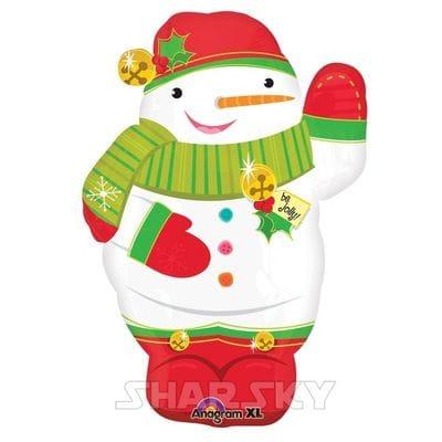 "Шар ""Забавный снеговик"", 53 см"