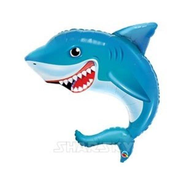 """Воздушные шары. Доставка в Москве: Шар """"Акула"""" с зубами, 91 см Цены на https://sharsky.msk.ru/"""