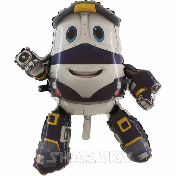 """Воздушные шары. Доставка в Москве: Шар """"Кей"""" Robot Trains, 88 см Цены на https://sharsky.msk.ru/"""