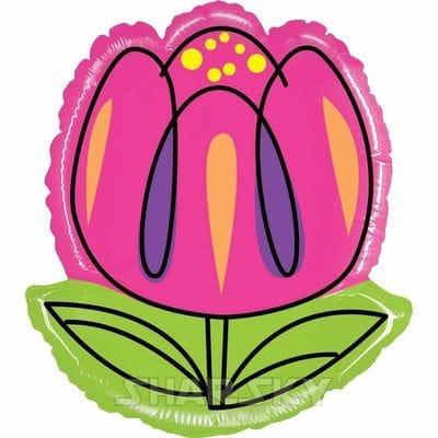 "Шар ""Розовый тюльпан"", 61 см"