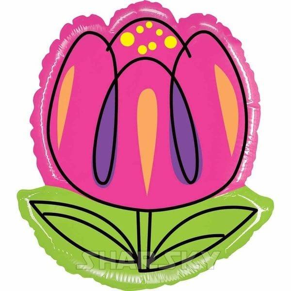 """Воздушные шары. Доставка в Москве: Шар """"Розовый тюльпан"""", 61 см Цены на https://sharsky.msk.ru/"""
