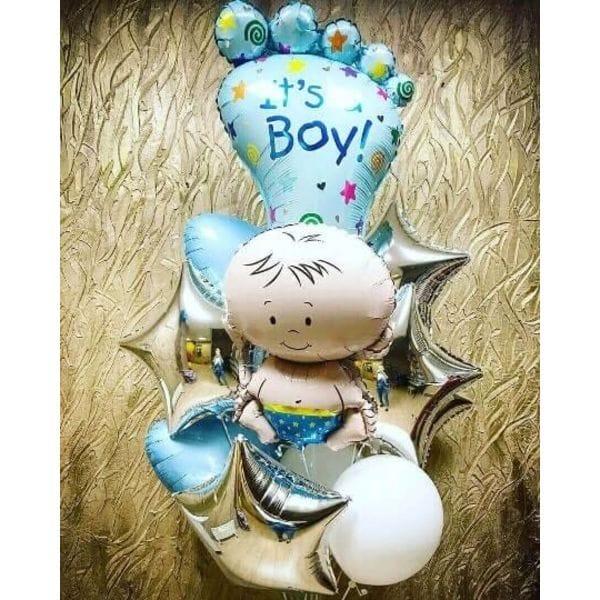 Воздушные шары. Доставка в Москве: Фигуры из шаров на рождение мальчика Цены на https://sharsky.msk.ru/