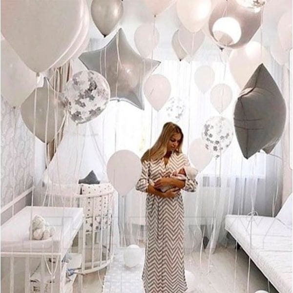 Воздушные шары. Доставка в Москве: Оформление с большими звездами для малыша Цены на https://sharsky.msk.ru/