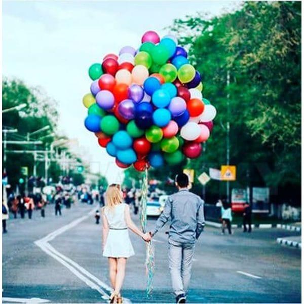 Воздушные шары. Доставка в Москве: 200 шаров ассорти, 35 см Цены на https://sharsky.msk.ru/