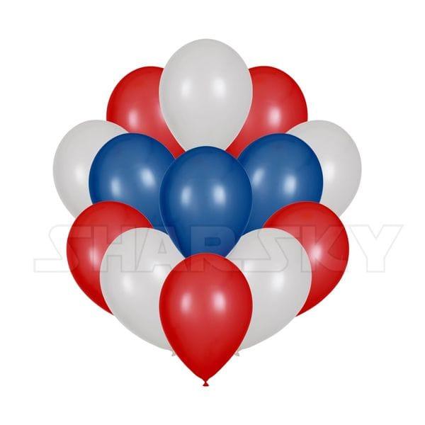 Воздушные шары. Доставка в Москве: Необъятный триколор, 25 шаров Цены на https://sharsky.msk.ru/