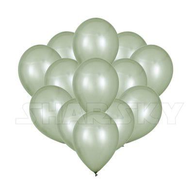 Серебряные шары, 35 см