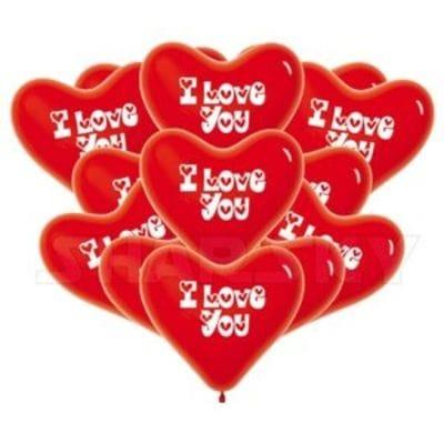 """Красные сердца """"I LOVE YOU"""", 40 см"""