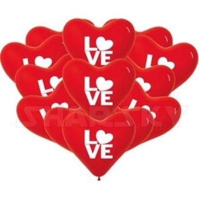 """Красные сердца """"LOVE"""", 40 см"""