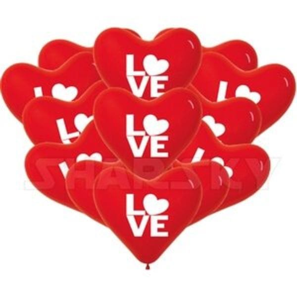 """Воздушные шары. Доставка в Москве: Красные сердца """"LOVE"""", 40 см Цены на https://sharsky.msk.ru/"""
