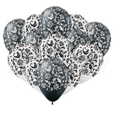 Черно-белые шарики с узором, 35 см