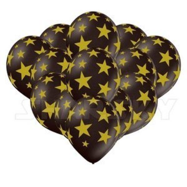 Воздушные шары. Доставка в Москве: Черные шарики со звездами, 35 см Цены на https://sharsky.msk.ru/