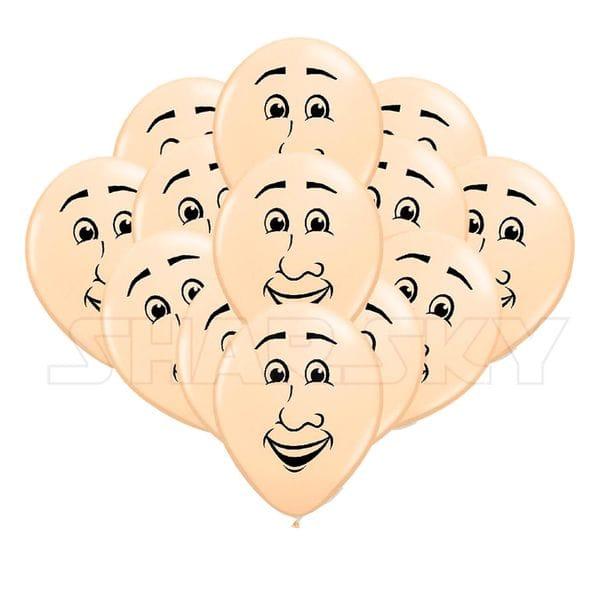 """Воздушные шары. Доставка в Москве: Шарики """"Лицо"""", 35 см Цены на https://sharsky.msk.ru/"""