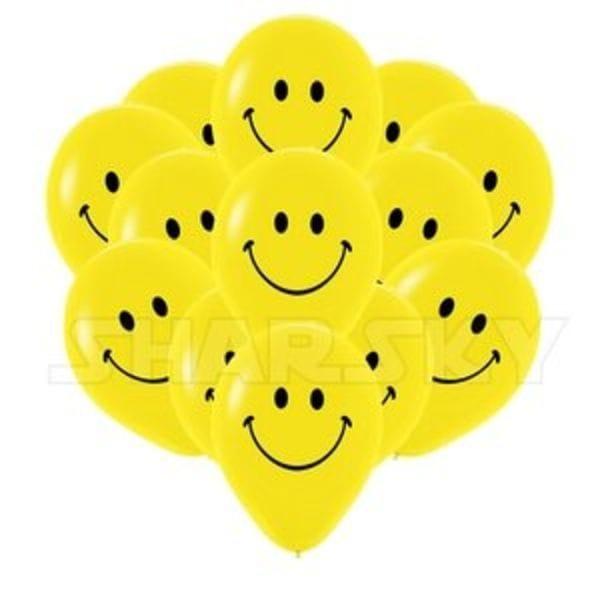 Воздушные шары. Доставка в Москве: Желтые смайлы, 35 см Цены на https://sharsky.msk.ru/
