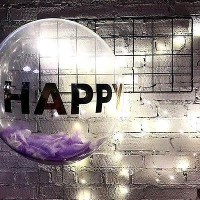 Большой шар с надписью Счастье