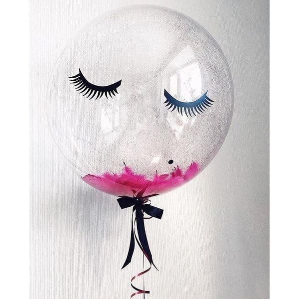 Воздушные шары. Доставка в Москве: Большой шар с ресничками Цены на https://sharsky.msk.ru/