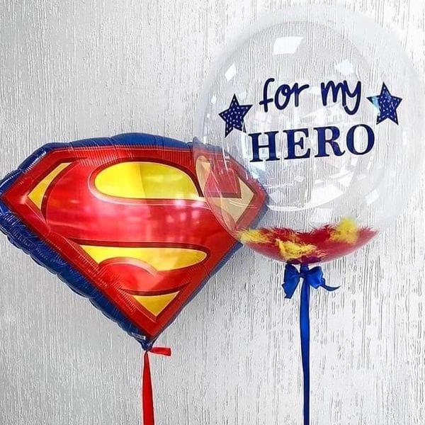 Воздушные шары. Доставка в Москве: C надписью для Супермена Цены на https://sharsky.msk.ru/