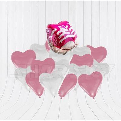 Ботиночки с сердцами для девочки