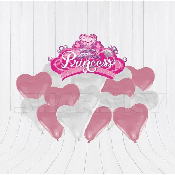 Воздушные шары. Доставка в Москве: Корона с сердцами для девочки Цены на https://sharsky.msk.ru/