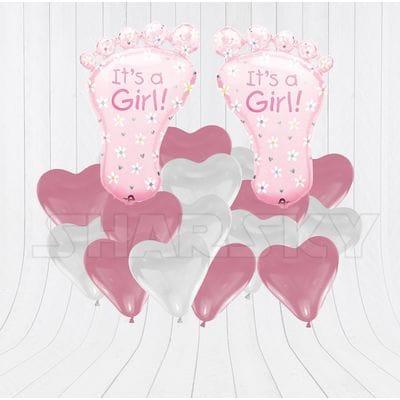 Пяточки с сердцами для девочки